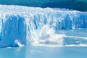 Ice falling, Moreno Glacier, NP los Glaciares, Patagonia, Argentina, South America